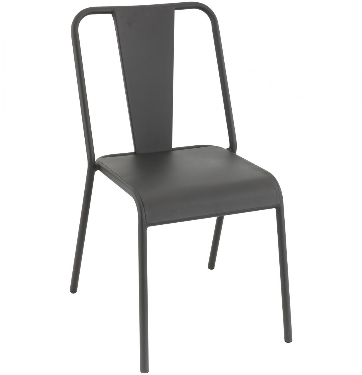 Mobilier coulomb chaise de terrasse m tal rivoli for Mobilier terrasse