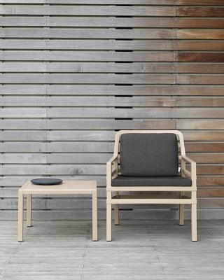 mobilier coulomb fauteuil de terrasse lounge aria mobilier terrasse de bar restaurant chr. Black Bedroom Furniture Sets. Home Design Ideas
